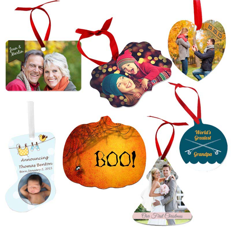 sublimation tag and ornament ideas